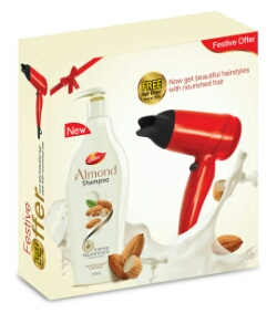 Paytm - Buy Dabur Almond Shampoo Intense Nourishment 350 ml with Hair Dryer