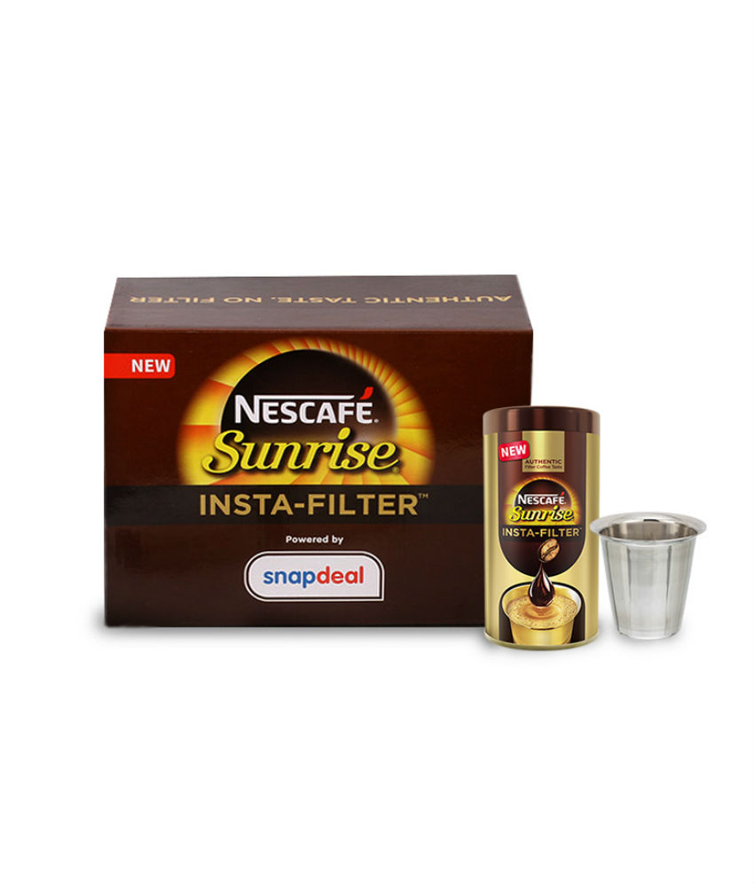 SnapDeal– Buy NESCAFE Sunrise Insta-Filter Special Coffee Kit At Rs 134 only