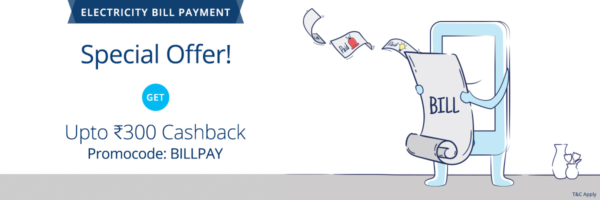 PayTM - Get Flat 1% CashBack on Electricity And Water Bill Payment