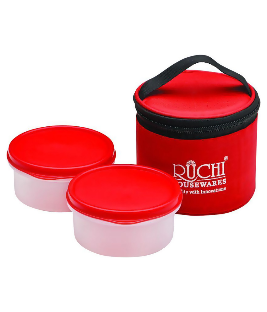 (Loot) Snapdeal – Buy Ruchi Housewares White and Red Poly Propylene Tiffin Set of 2 At Just Rs. 99
