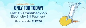 Paytm FIRSTPAY Electricity Bill Payment Offer - Get 10% Cashback on First Electricity Bill Payment