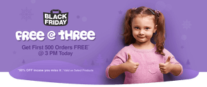 First 500 Orders FREE (100% Off) At 3 PM 25 November, 2016 - FirstCry