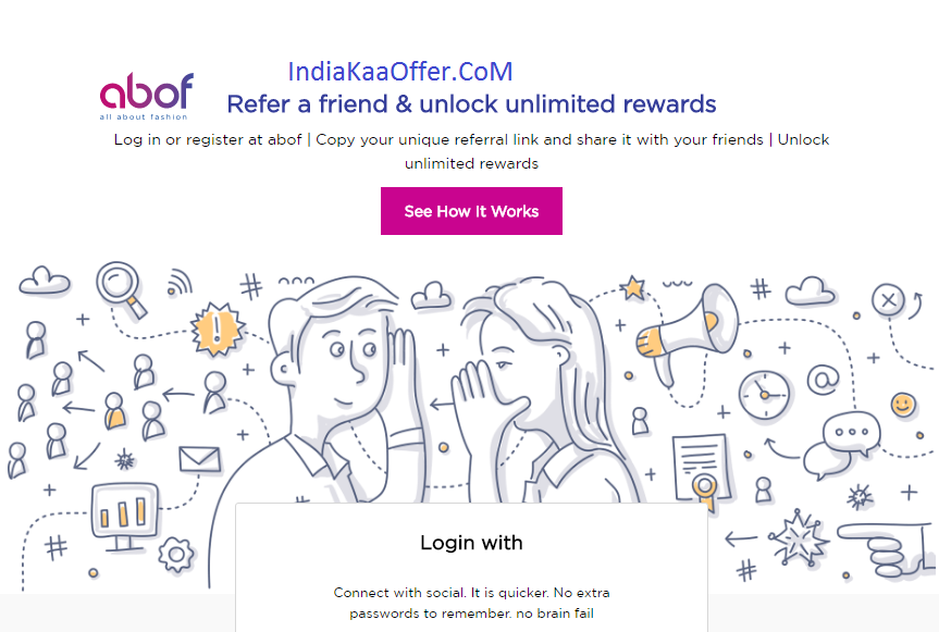 Abof Refer And Earn Trick -Signup & Get Rs 200,Refer & Rs 300 Per Refer (No Minimum Purchase)