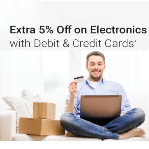 Get 5% Off On Electronics