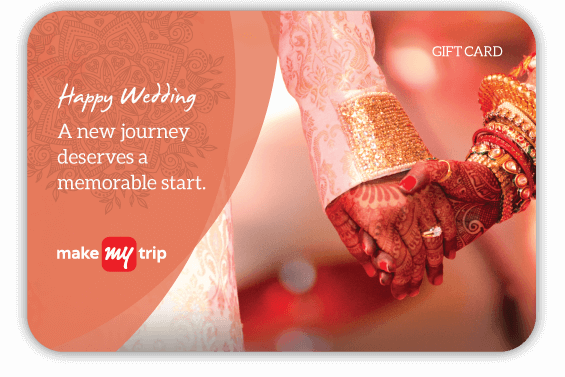 Wedding Gifts Buy Online: MakeMyTrip Rs 2000 Wedding Gift Card At Rs 1600 Only