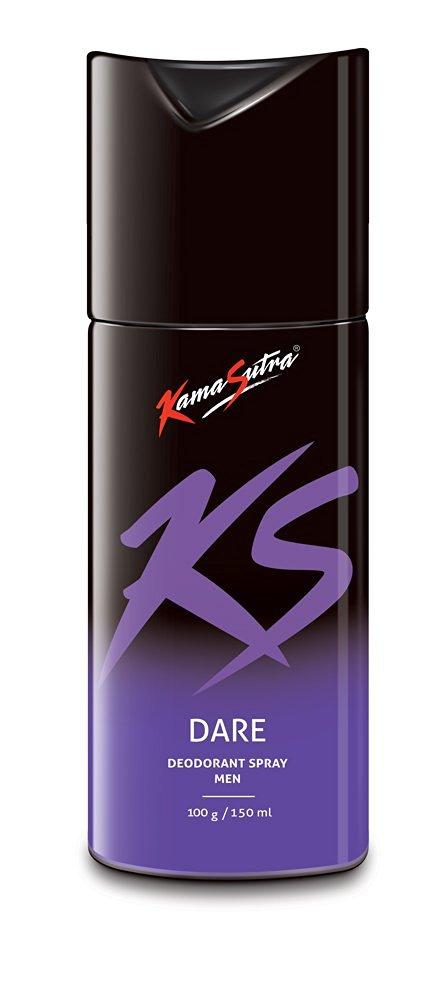 KS Kamasutra Deodorant for Men, Dare, 150ml Rs 130 - Amazon