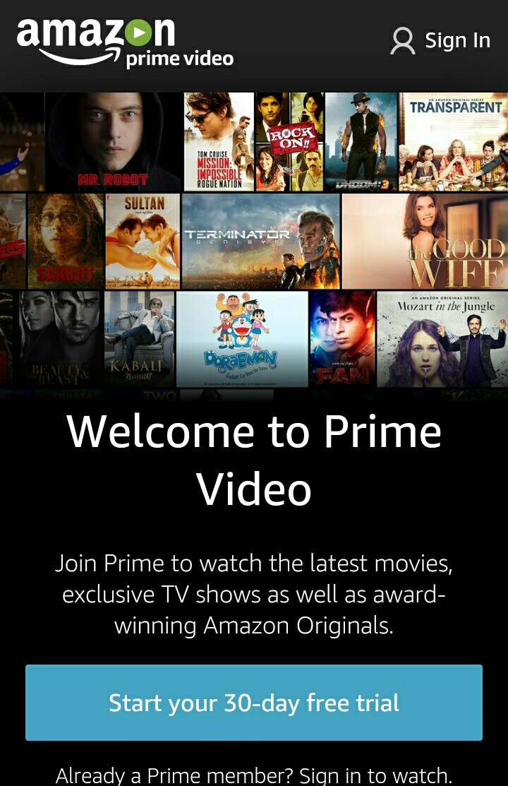 Get Free 30 Days Trial Amazon Prime Video