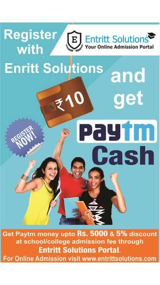 Entritt Solutions Register Free Rs 5 Paytm Cash Offer