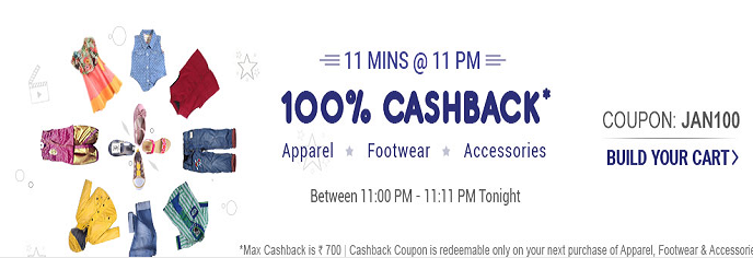 FirstCry JAN100 - Get 100% CashBack On Baby & Kids Products