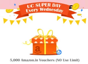 UC Browser Super Day Loot Win Upto Rs 5000 Amazon Gift voucher