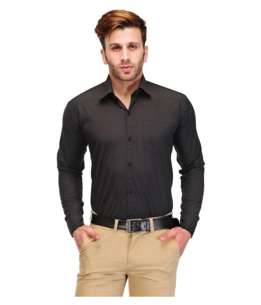 Slim Fit Formal Shirt Black By Unique For Men At Rs 189 Only ...