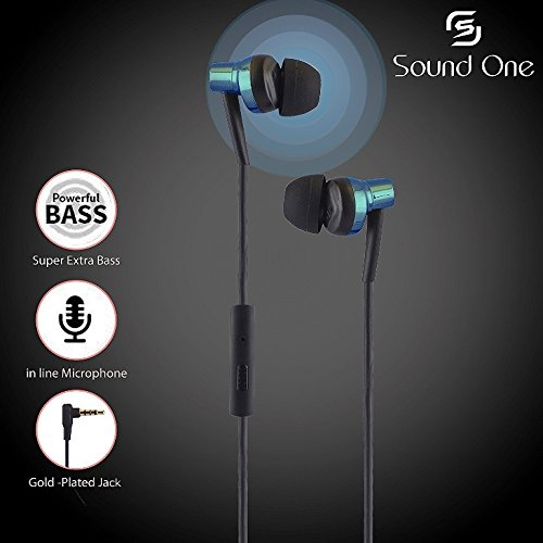 Sound One 007 Ear Earphones With MIC With Extra Bass with Carry Case & Pouch At Rs 449 - Amazon