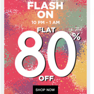 (Loot)Clothing Footwear & Accessories Minimum 80% off On Jabong