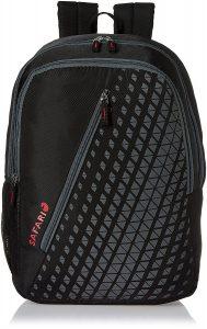 Safari Black Casual Backpack