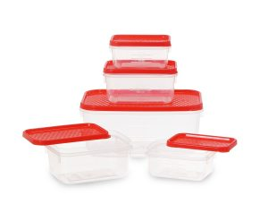 All Time Plastics Polka Container Set, 5-Pieces At Rs 89 Only - Amazon