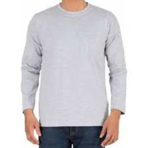 Gray Color Full Sleeve T Shirt