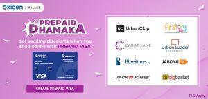 Oxigen Wallet Prepaid Visa Offer