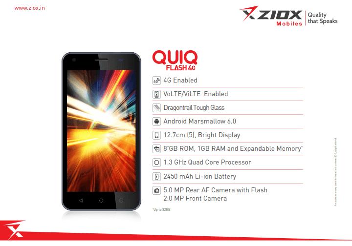 Ziox Quiq Flash 4G