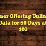 Telenor offering Unlimited 4G Data