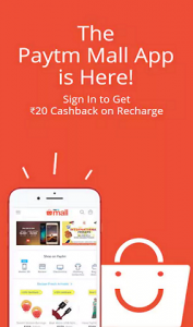 PaytmMall ONCEAMONTH Coupon Rs 200 Cashback offer :- - Get Rs 20 Cashback On Rs 50 Recharge