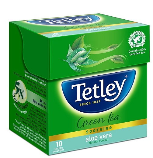 Tetley Green Tea Aloevera 10 Tea Bags At Rs 70 Only - Amazon