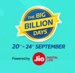Flipkart Big Billion Days Sale Offer 1-4 Oct 2018 : Upto 90% off