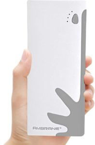 Ambrane 10000 mAh Power Bank (P-1122, NA) (White, Blue, Lithium-ion)