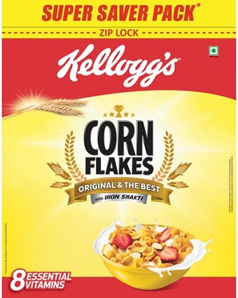 Kellogg's Corn Flakes, 875g At Rs. 225 - Amazon