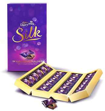 Cadbury Dairy Milk Silk Pralines Collection 240g At Rs 375 - Amazon