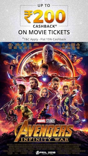Paytm Avengers Infinity War Movie Tickets Booking Offer Get Rs 200 Cashback Maximum