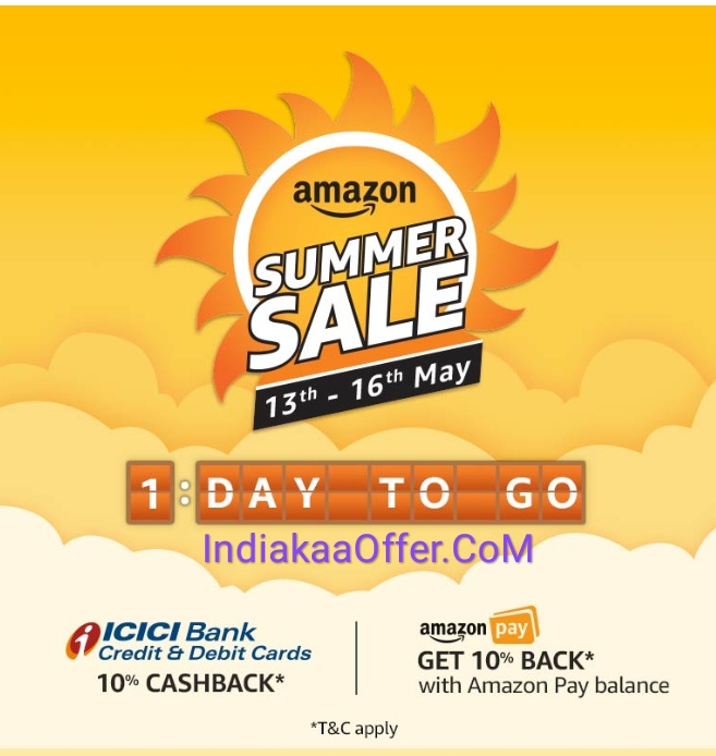 Amazon Summer Sale 13-16 May 2018 Discount Shopping Offer