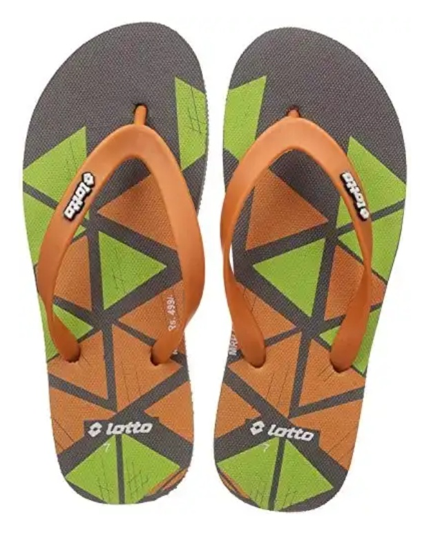Lotto Men's Dark Grey/Orange/Lime Hawaii House Slippers