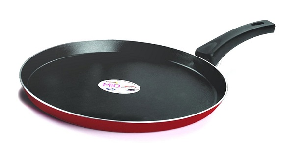 Pigeon by Stovekraft Mio Aluminum Flat Tawa 250mm (Pink/Red) At Rs 293 - Amazon