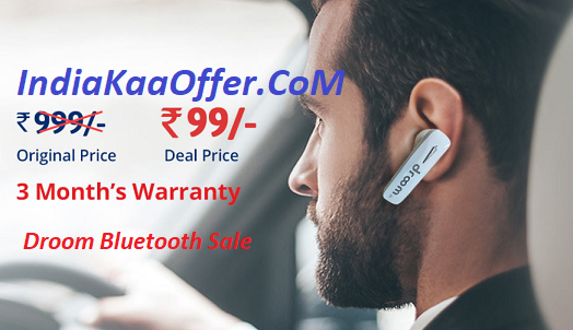 20 June Droom Bluetooth Headset Sale Live