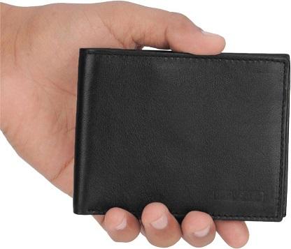Provogue Men Black Genuine Leather Wallet (6 Card Slots) At Rs 94 (90% Off)