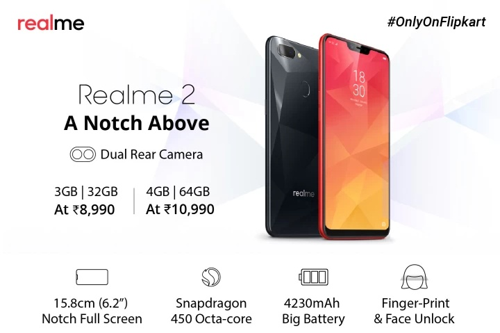 Realme 2 next sale date 4th December 2018 At 12 PM