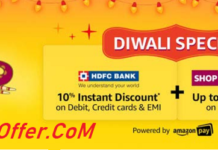Amazon Diwali Great Indian Festival Sale 2-5 November 2018
