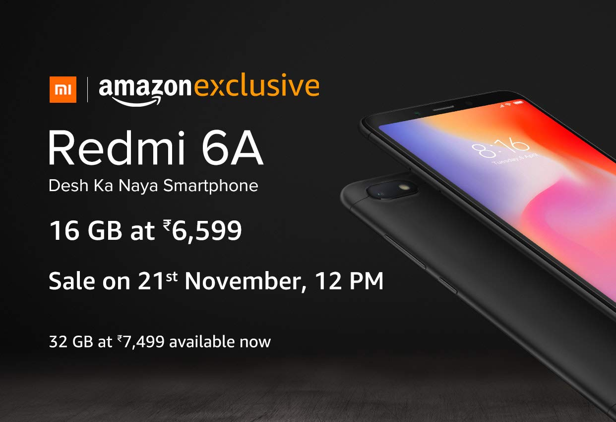 Xiaomi Redmi 6A Next Sale Date,Trick & Buy At Rs 6,599 Only + Offers -