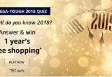 The Mega-Tough 2018 Quiz Amazon Answers Win 1 Year Free Shopping