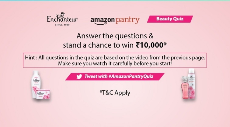 Amazon 17 July - 5 August 2020 Pantry Beauty Quiz Answers Today