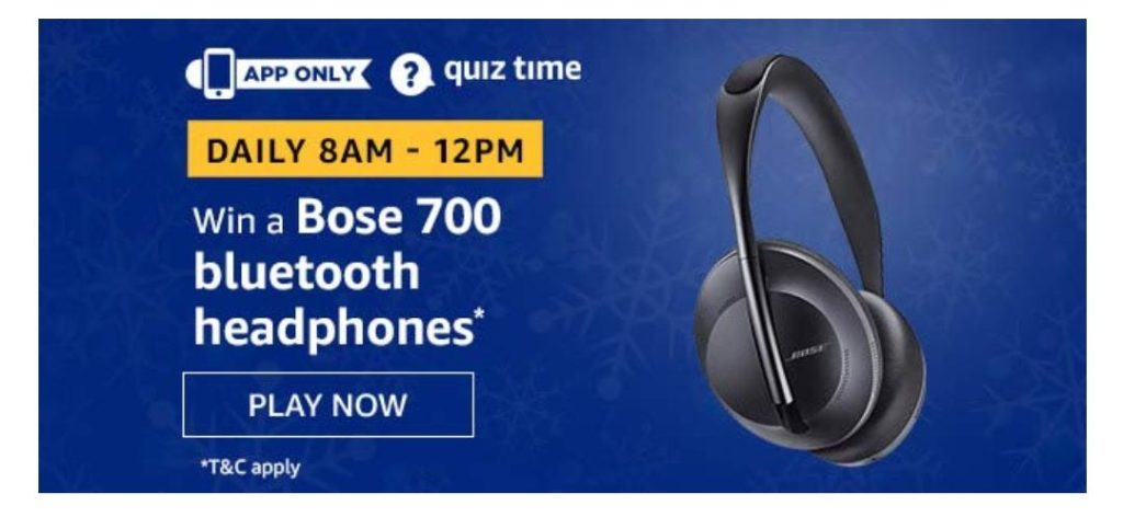 Amazon Boss 700 Bluetooth Headphone Quiz 25 July Answers Today