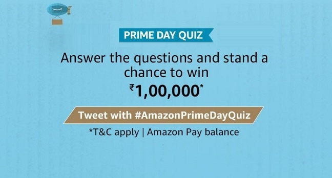 Amazon Prime Day Quiz 23 July Quiz Answers Today