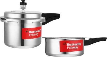 Butterfly Friendly 3 L 2 L Pressure Cooker (Aluminium) At Rs 879 Only (66% off) - Flipkart