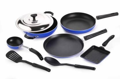 Crystal Eco Series Cookware Set (PTFE (Non-stick), 8 - Piece) At Rs 949 (72% off) - Flipkart