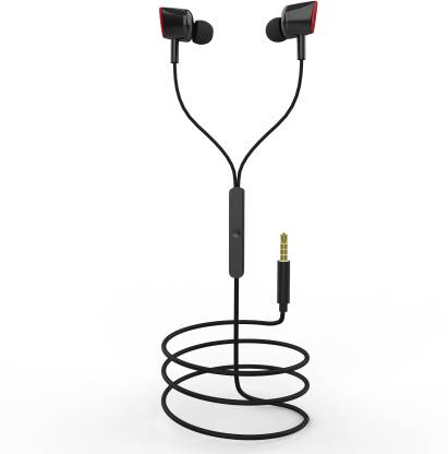 FLYBOT Star 100 Wired Headset  (Black-Red, Wired in the ear) At Rs 199 Only (60% off) - Flipkart